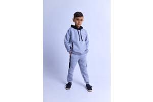 Спортивный костюм для мальчика Chirks Худи + штаны SK00356 134 Серый с черным