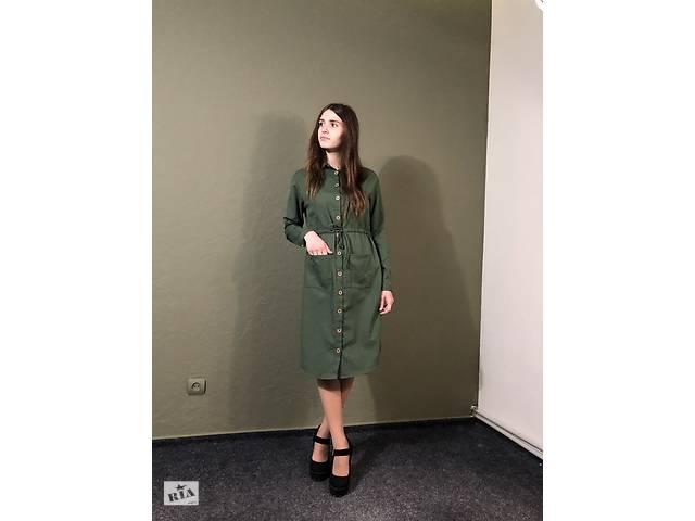 бу Стильное Платье цвета хаки в Херсоне