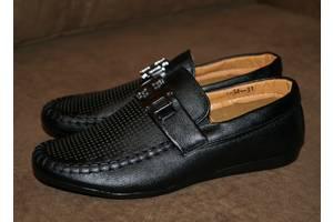 Стильные черные туфли/мокасины для мальчика