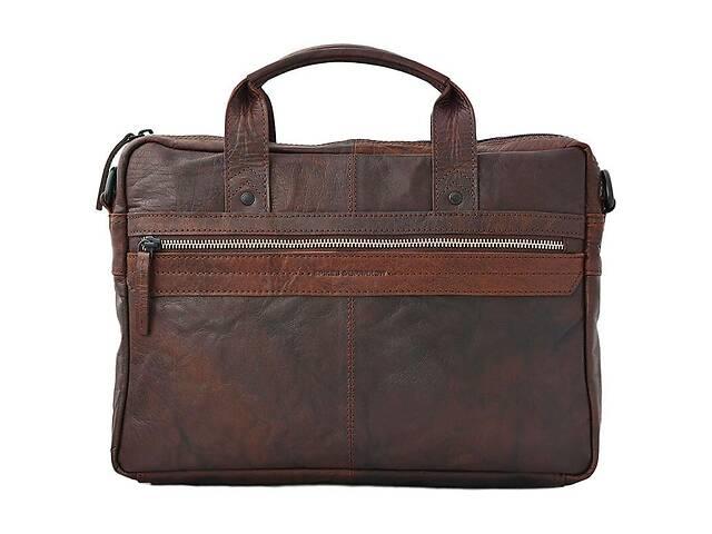 продам Сумка-портфель мужская для ноутбука кожаная Spikes&Sparrow Нидерланды оригинал 34*23,5 см. коричневая 109112 бу в Киеве