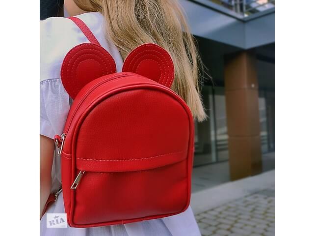 продам Сумка рюкзак трансформер Ушки как у мышки (красный) бу в Одессе