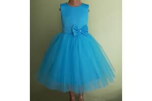 Праздничная детская платье голубого цвета, модель № 108