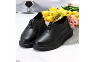 Трояндова шкіряні чорні жіночі туфлі кріппери з натуральної шкіри 36-40р