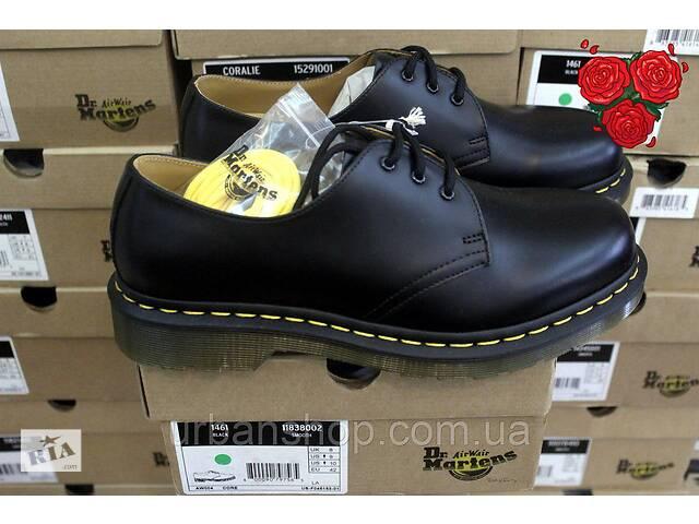 купить бу Туфлі Dr.Martens 1461 Black (DM10085001 11837002) чорні мартенси, мартенс, мартіна, ORIGINAL. в Львові