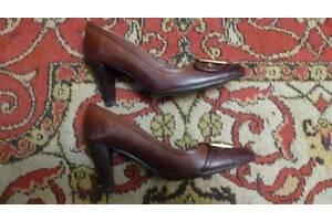 Туфли коричневые женские кожаные