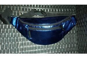 Twins store поясная сумка бананка синяя унисекс