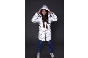 Подовжена светоотражающая рефлективна зимова куртка