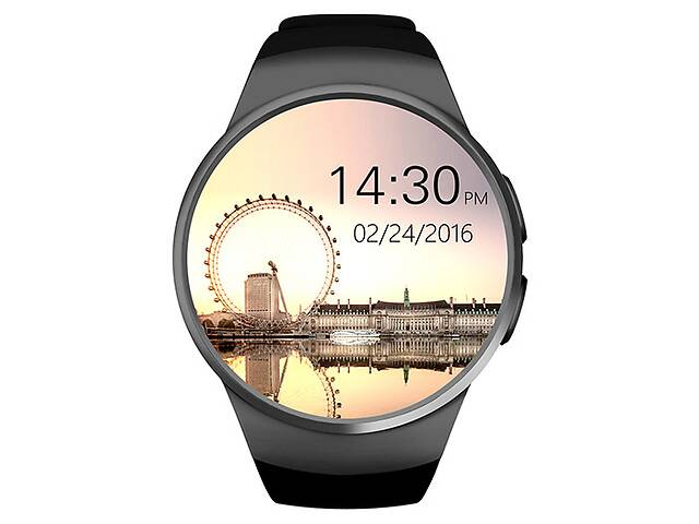 бу Умные часы King Wear KW18 с поддержкой SIM-карты Черный в Киеве