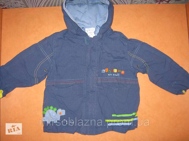 продам Вітровка на хлопчика дитяча синя з капюшеном б/у, синя бу в Кам'янському (Дніпродзержинськ)