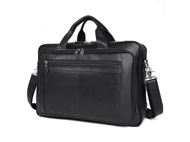 бу Вместительная мужская кожаная сумка для ноутбука JD7320A John McDee в Киеве