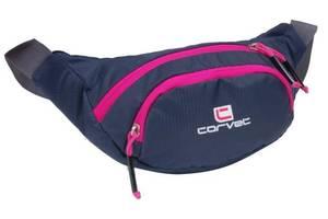 Вместительная набедренная сумка, бананка Corvet WB3500-70 синяя