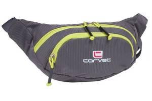 Вместительная сумка на пояс, бананка Corvet WB3500-14 серая
