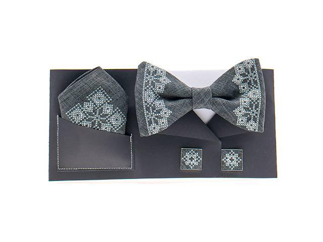 купить бу Вишитий метелик з хустинкою і запонками №856 в Чернигове