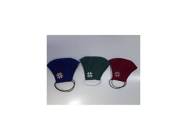 бу Защитная маска льняная с вышивкой (1)  в Украине