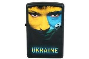 Зажигалка Zippo UKRAINE SOCCER FACE 218US, черный