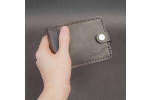 Зажим с RFID защитой, натуральная кожа, ручная работа