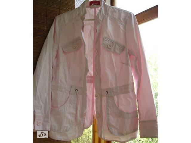 продам жакет куртка 10 С М р., розовый, хлопок, на пуговицах, карманы. торг бу в Запорожье