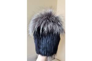 Женская натуральная зимняя шапка