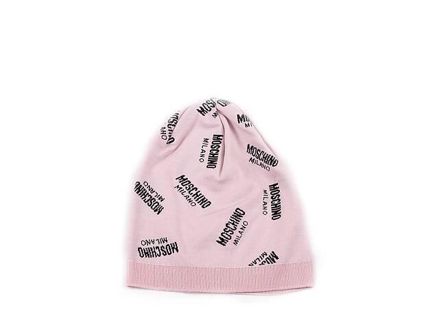 Женская шапка Moschino 65169 Пудровая (2900056547017)- объявление о продаже  в Киеве