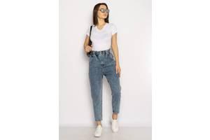 Женские джинсы МОМ с завышенной талией