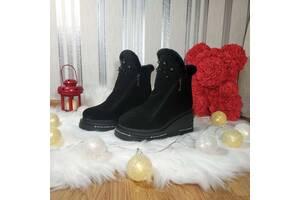 Женские кожаные ботинки 00658