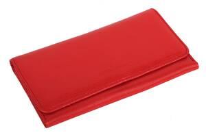 Женский кошелек кожаный Vip Collection 195-F Красный
