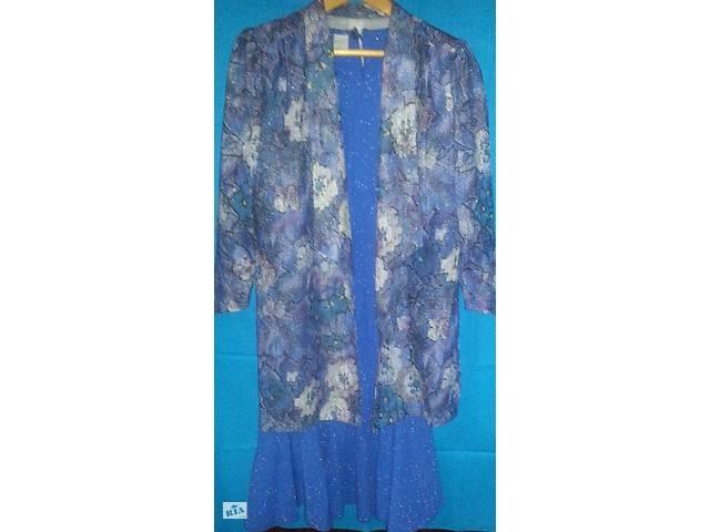 бу Женский костюм двойка - жакет, платье голубое с блестками в Одессе