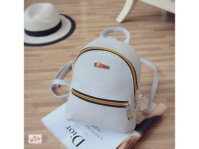 продам Женский мини рюкзак ПУ кожа Серый бу в Днепре (Днепропетровск)