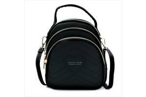 Женский мини рюкзак Weatro Чёрный (732-black)