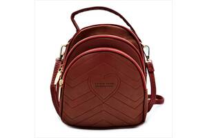 Жіночий міні рюкзак Weatro Червоний (732-red)