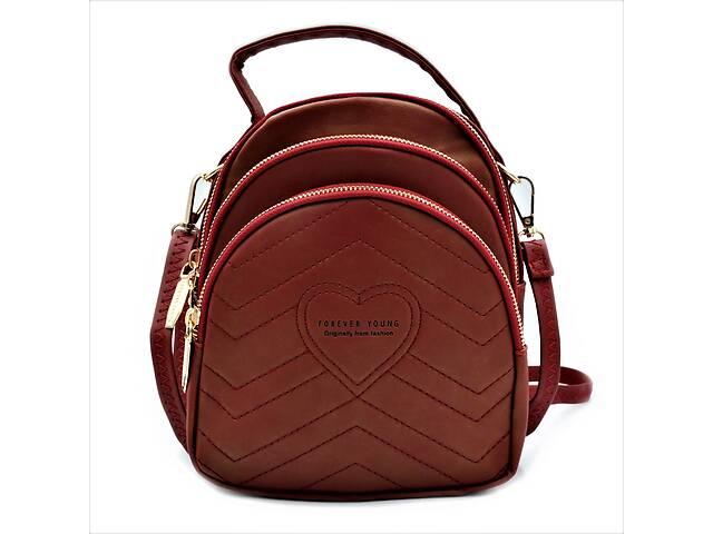 купить бу Женский мини рюкзак Weatro Красный (732-red) в Одессе