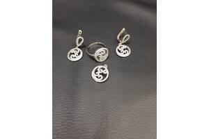 Женский набор из серебра