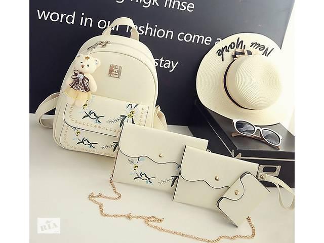 продам Женский рюкзак сумочка кошелек визитница набор комплект рюкзачок сумка кошелек Молочный бу в Днепре (Днепропетровск)