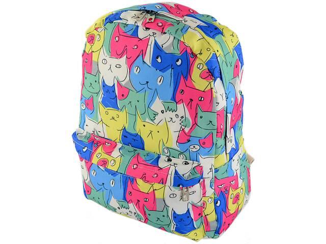 купить бу Женский рюкзак из холста TRAUM 7224-14 на 16 л, розовый с желтым в Киеве