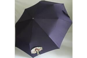 Зонт женский полный автомат AIRTON 3912 девушка под зонтом фиолетовый
