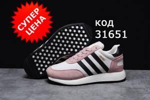 Зимові жіночі кросівки Adidas Iniki-31651 натуральне хутро