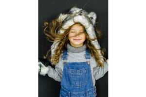 Зимний комплект (шапка-капюшон+варежки) хаски