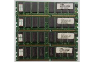 2 GB: 4*hynix 512MB DDR PC3200 400 MHz CL3