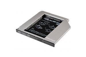 Адаптер Grand-X для подключения HDD 2.5 в отсек привода ноутбука SATA/SATA3 Slim 9.5мм (HDC-24N)