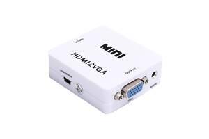 Адаптер конвертер Kronos HDMI-VGA 1080P HDV-630 VGA-01 Белый  (gr_007021)