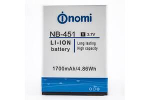 Аккумулятор к телефону Nomi i451 NB-451 1700mAh