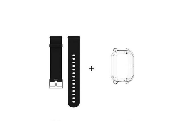 продам Amazfit GTS Комплект для смарт годин (ремінець і бампер), Black-Transparent бу в Запоріжжі