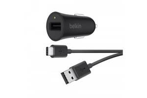 Автомобильное зарядное устройство Belkin (F7U032bt04-BLK) BOOST UP Quick Charge™3.0 Car Charger with USB-A to USB-C C...