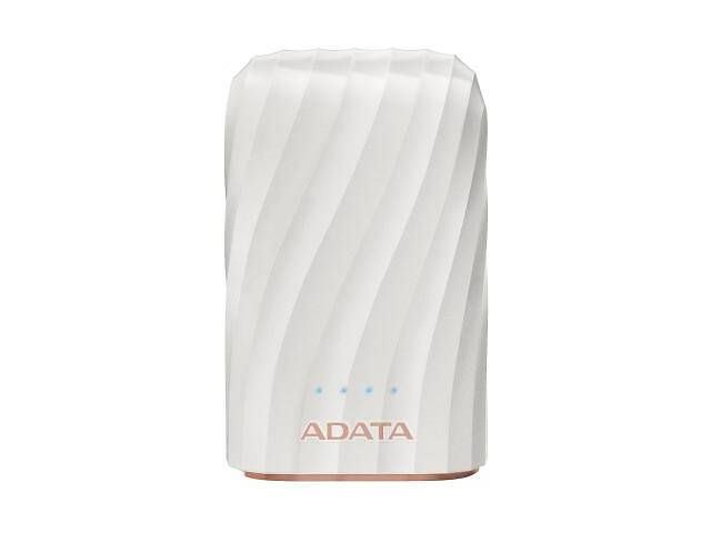 Батарея универсальная ADATA P1050C White (10050mAh, out 2*5V*2,4A max, cable USB-C) (AP10050C-USBC-CWH)- объявление о продаже  в Харькове