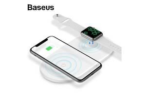 Беспроводное зарядное устройство Baseus WX2IN1 Smart 2in1 White