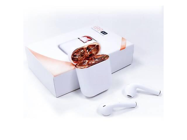 купить бу Беспроводные блютуз наушники i99 TWS с боксом для зарядки White (au045-hbr) в Киеве