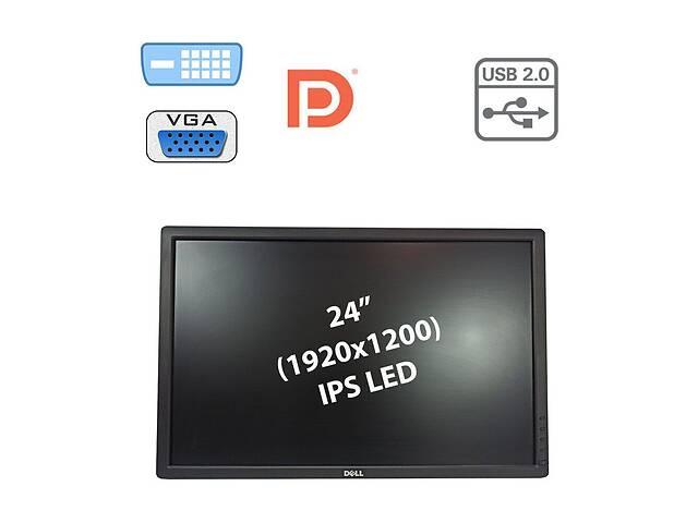 """купить бу Монитор Б-класс Dell U2412MB / 24"""" (1920x1200) IPS LED / 1x DP, 1x DVI-D, 1x VGA, USB-Hub / в комплектации нету подст... в Киеве"""