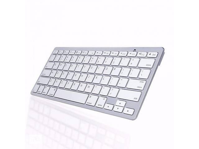 купить бу Bluetooth беспроводная клавиатура для телевизора планшета и смартфона ноутбука UKC X5 RUS с русскими буквами Белая (g... в Киеве