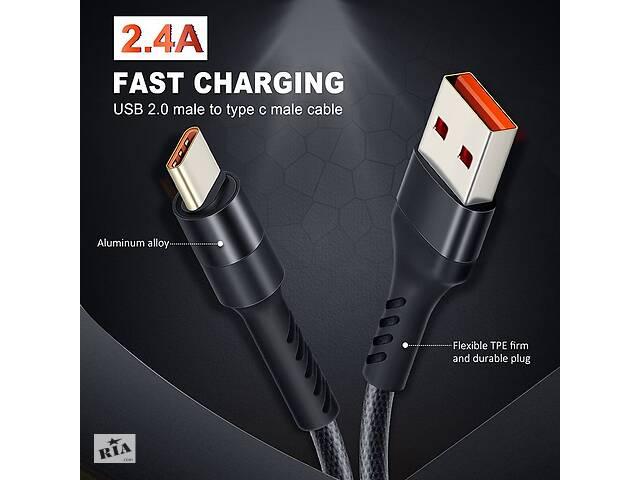 продам CABLETIME Type-C кабель для зарядки устройств (2.4А) и передачи данных (480 Mbps), 1М бу в Кривом Роге
