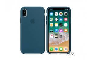 Чехол для Apple iPhone X Silicone Case Sea Blue Copy